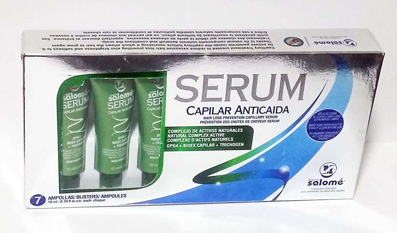 Amazon.com : Maria Salome Serum Capilar Anticaida Hair Loss Prevention Capillary Serum 7 Ampollas / Blisters : Beauty