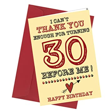 280 BIRTHDAY GREETING CARD 30th Birthday Card Comedy Rude Funny Humour Valentine A4 Folded