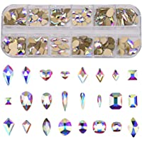 240pcs Popular 12 Styles FlatBack Crystals Mix Sizes Multi Shapes Glass Crystal AB Rhinestones For Nail Art Craft 3D…