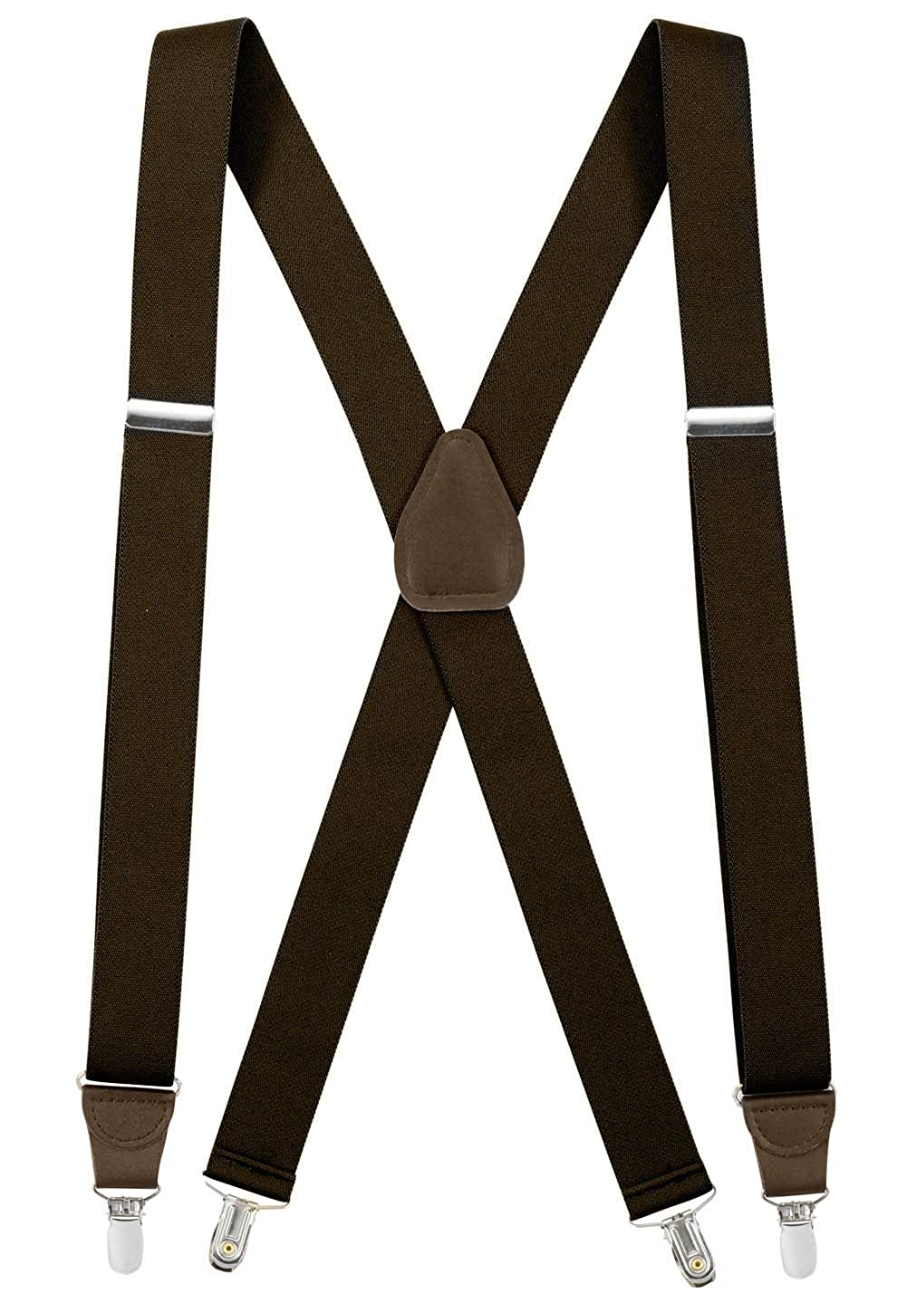 HoldEm Suspender for Men X-Back Clip on Leather Crosspatch Made in USA