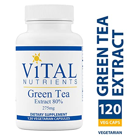 Vital Nutrients – Green Tea Extract 275 mg – Potent Antioxidant Immune Enhancer – 120 Capsules