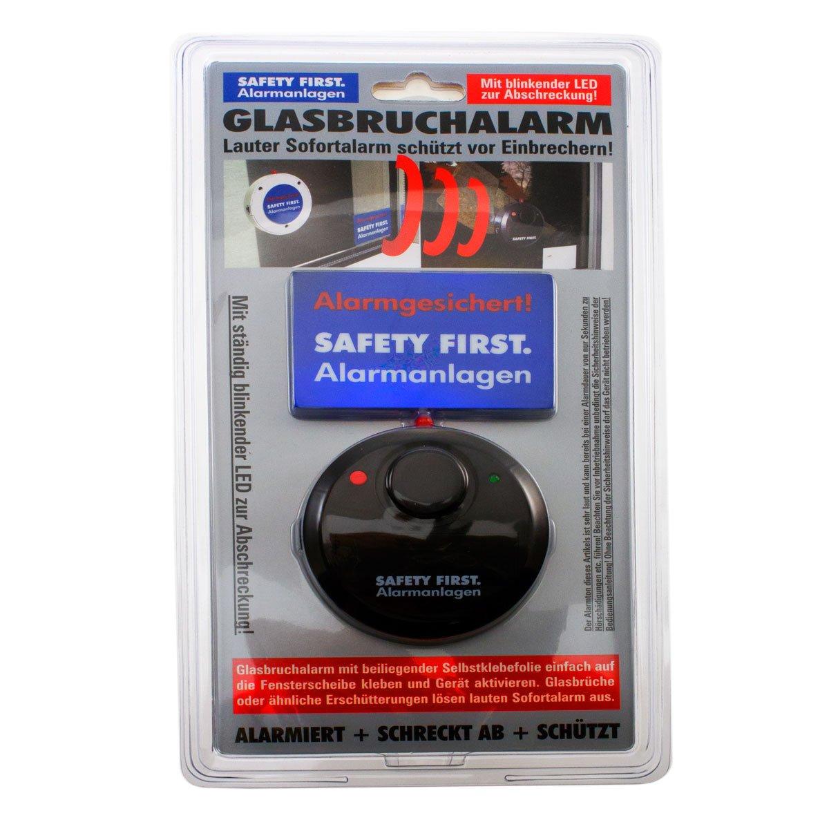 Alarma de rotura de cristal con LED de rotura de cristal Protección antirrobos Alarma: Amazon.es: Bricolaje y herramientas