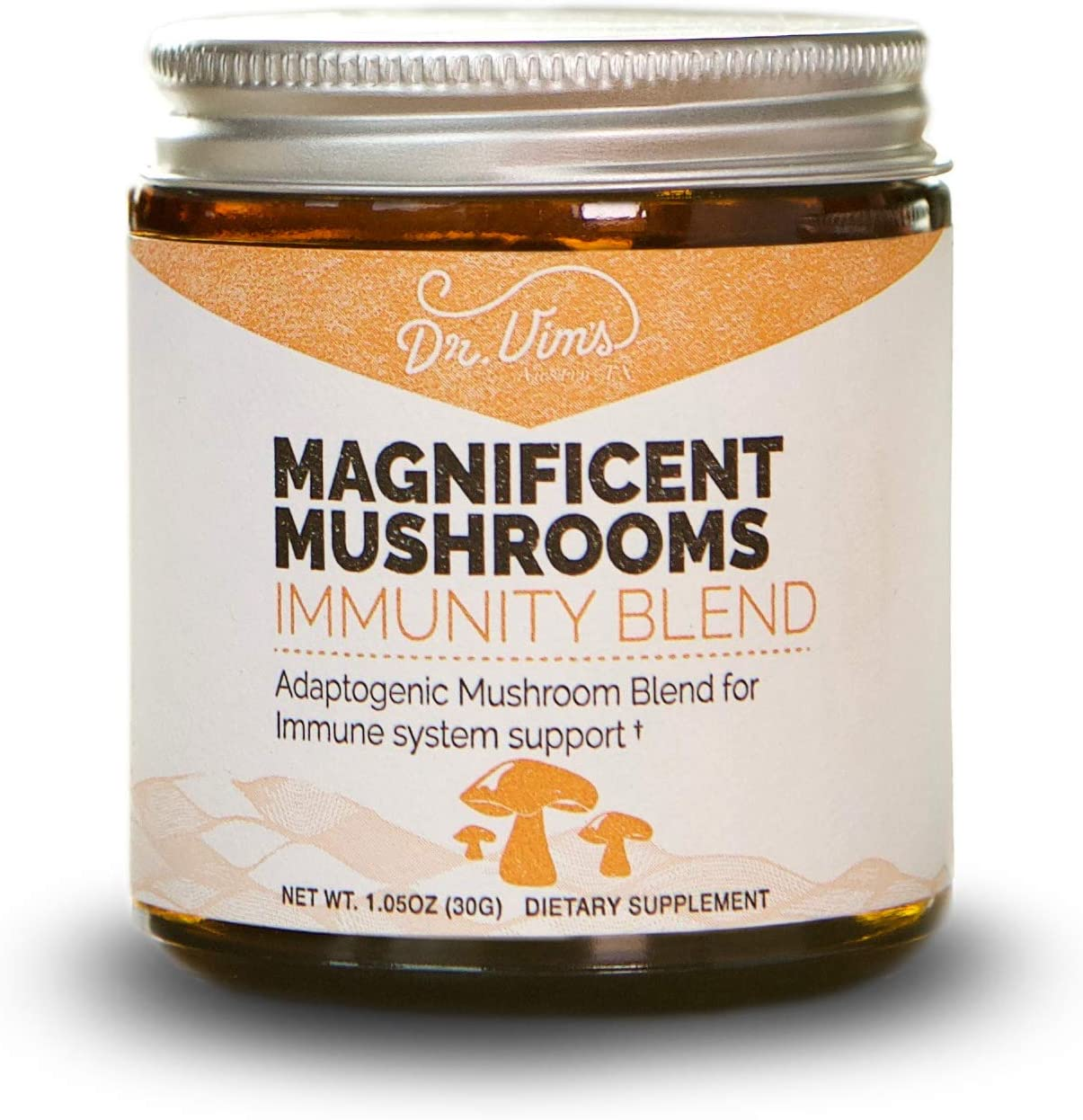 Magnificent Mushrooms Immunity Blend Immune, Stress Inflammation Support, Fight Fatigue Free Radicals in The Body, Organic, Adaptogen, Agaricus, Maitake, Reishi, Chaga, Turkey Tail, 30 Servings