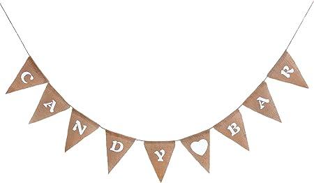 """'Este bonito """"Candy Bar guirnalda,Longitud: cuerda es total 3,80m aprox, un banderín es aprox 16cm"""