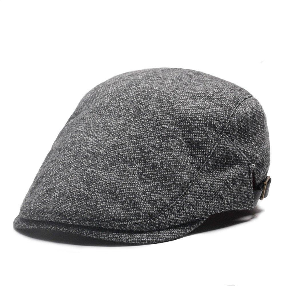 Flat Cap Men Women Unisex Vintage Cotton Autumn Winter Beret Newsboy Hat