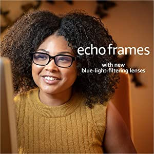 Echo Frames (2nd Gen) | Smart audio glasses with Alexa | Classic Black with new blue-light-filtering lenses