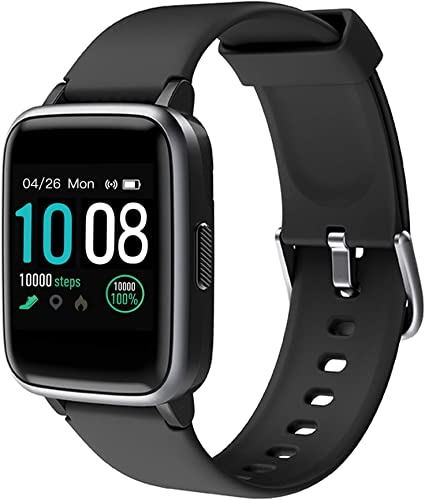 Smart Watch for Android iOS Phones, Activity Fitness Tracker Health Exercise Smartwatch Pedometer Heart Rate Sleep Monitor IP68 Waterproof Compatible with Samsung Apple iPhone for Men Women