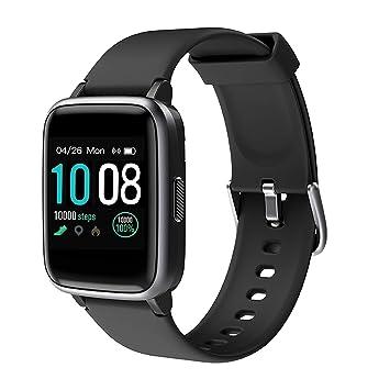 【2019 Más Nuevo】GRDE Reloj Inteligente, Bluetooth V5.0 Smartwatch Deportivo Impermeable 5ATM con Pantalla Completa Táctil Monitor de Ritmo Cardíaco y ...