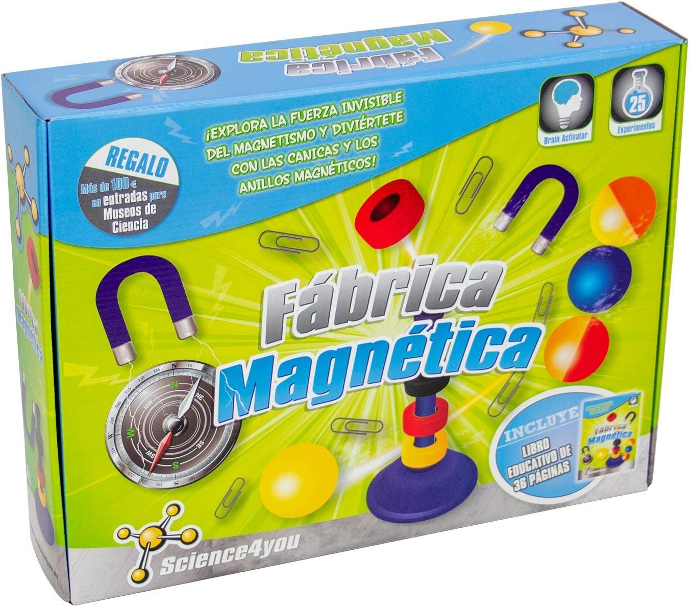 Science4you-Fábrica Magnética, Juguete Educativo y Científico, Multicolor, única (485072)
