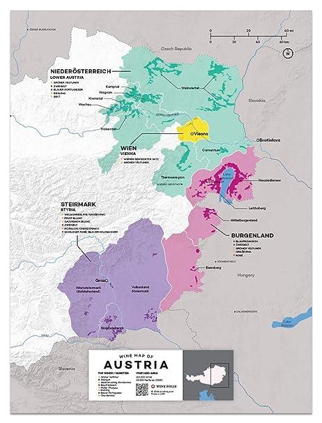 Amazon.com: Wine Folly Austria Wine Map Poster Print, 12\
