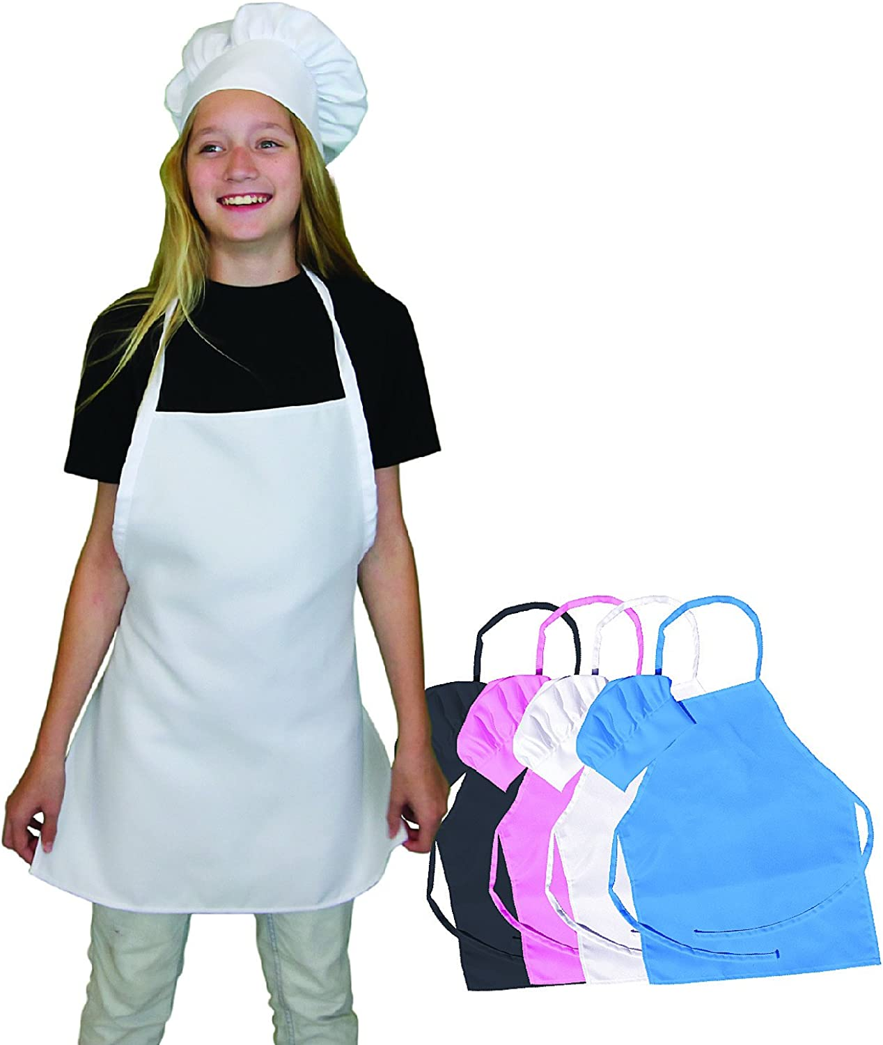 Kids Chef Hat and Apron Set, Children's Kitchen Cooking and Baking Wear Kit, Kids Size, Free eBook