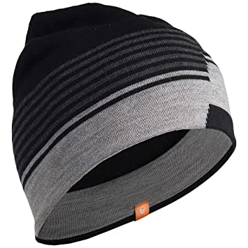 Icebreaker Coronet Hat - Black Black Jet Hthr Metro Hthr Size One Size   Amazon.co.uk  Sports   Outdoors 903f508b268