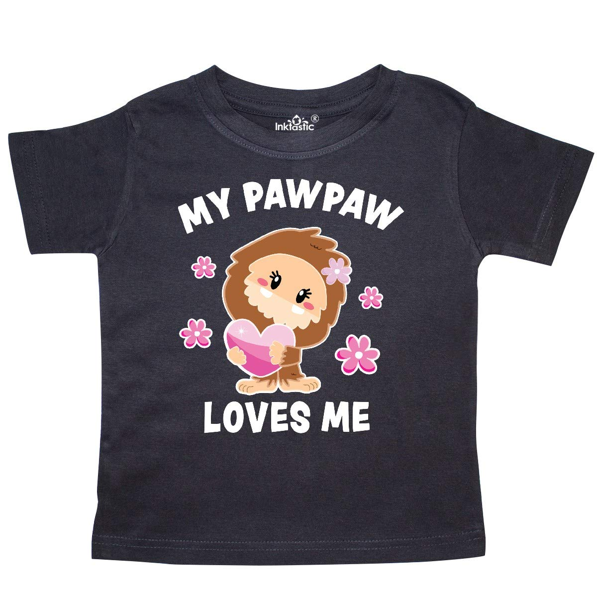 inktastic My Pawpaw Loves Me with Bigfoot Toddler T-Shirt