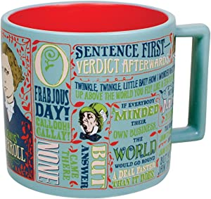 Lewis Carroll Coffee Mug - Famous Drawings and Depictions by Lewis Carroll - Comes in a Fun Gift Box