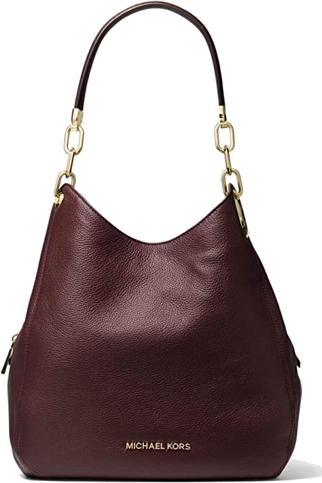 MICHAEL Michael Kors Lillie Large Pebbled Leather Shoulder Bag, Barolo