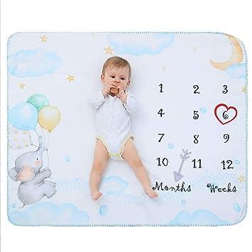 8efd333be0dc4 Éléphants Couverture Douce Bebe Mois Photographie Polaire Naissance Plaid  Bebe Plaid Enfant Pour Fille   Garcon