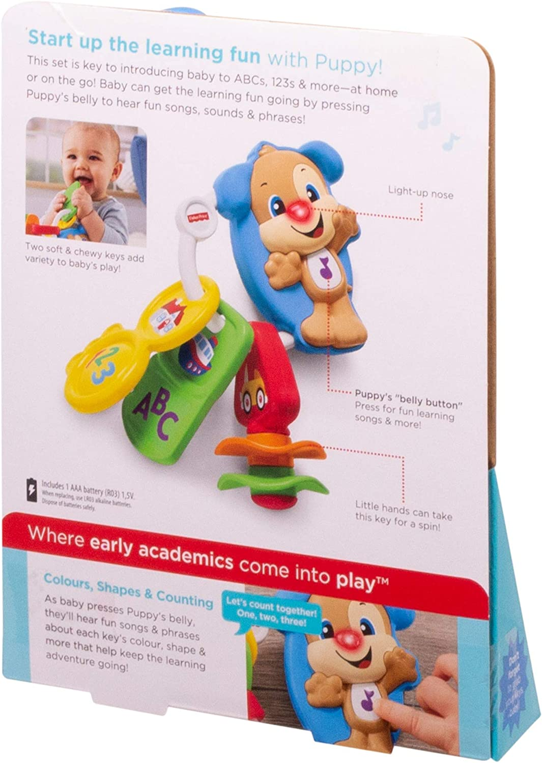 Words Letters Baby Electronic Educational Toy with Sounds Fisher-Price Count and Go Keys Numbers 6 Months Plus