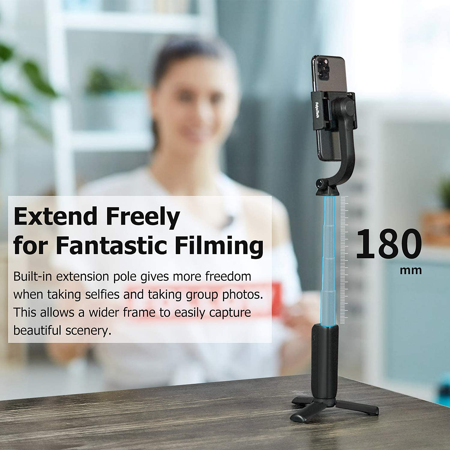 FeiyuTech Vimble One FeiyuTech Vimble One Smartphone Gimbal Stabilizer for iPhone 11Pro Max//X//XR//8//7 for Android Phones Extendable Foldable Pocket Gimbal Selfie Stick FeiyuOn APP Control