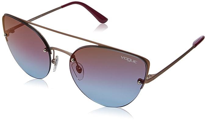 808d9f7bbfe VOGUE Women's 0VO4074S 5075H7 57 Sunglasses, Matte Light Pink Gold ...
