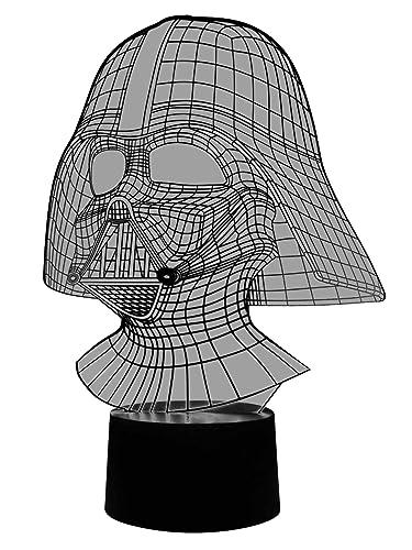 Lampe De Table 3d Originale Dark Vador Led à Changement De