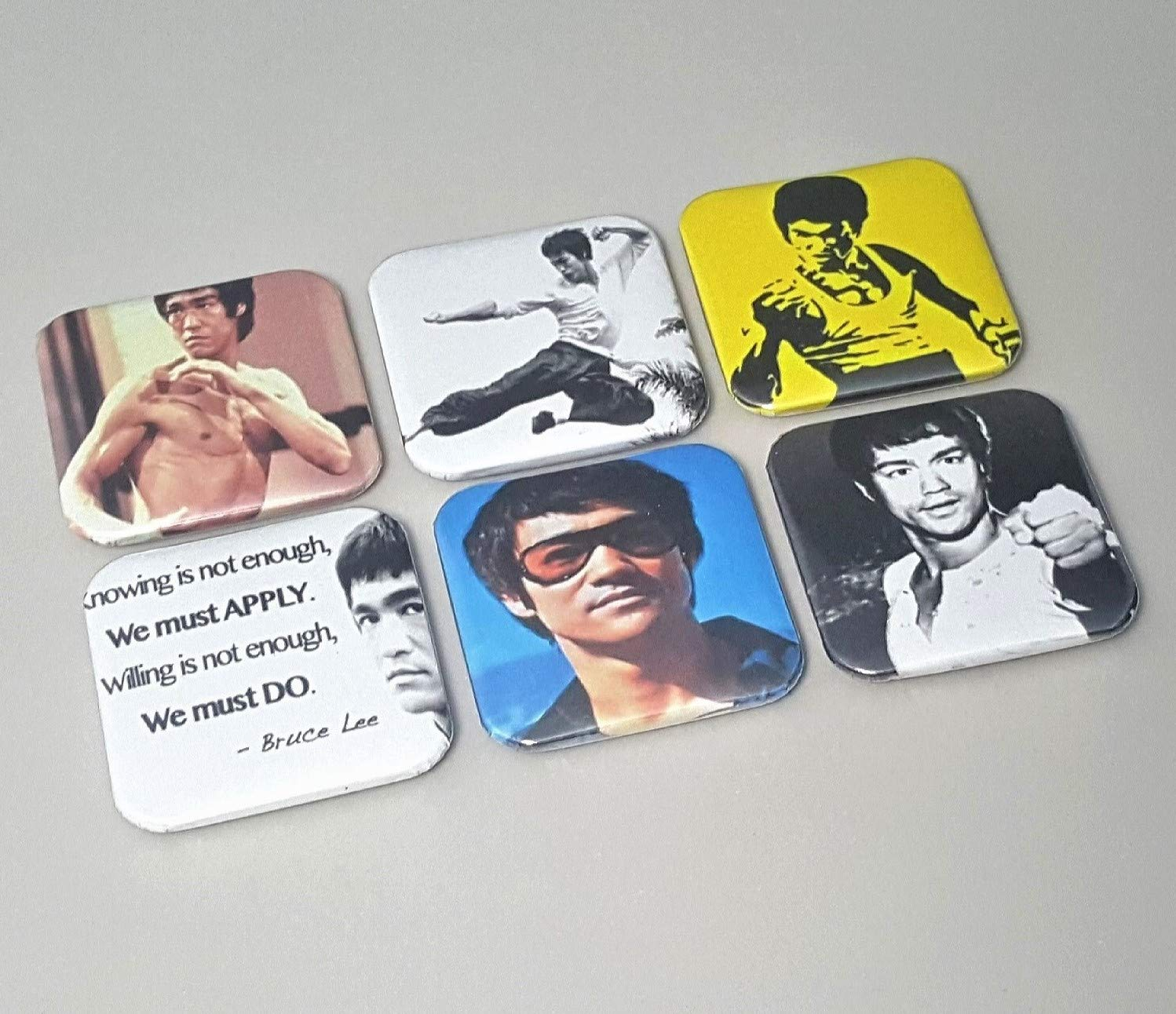 Bruce Lee Magnet Return Of The Dragon Gifts Art Picture Martial Arts Gifts For Men Quote Decor Teacher Movie Actor Home Decorations