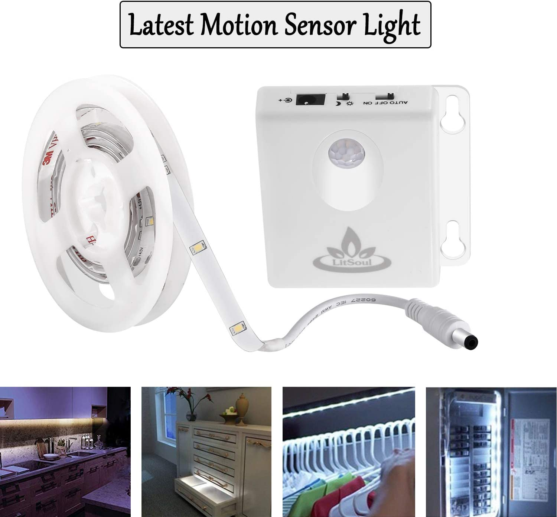Waterproof Under Cabinet Night Light Touch Switch Sensor LED Strip Light White