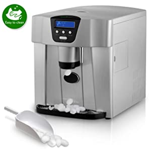 Countertop Ice Maker Machine Dispenser- 1.8 Liter Kitchen Ice & Water Machine, 2 Types Ice, Easy Touch Buttons, High Efficiency Express Ice Making in 9 Minutes