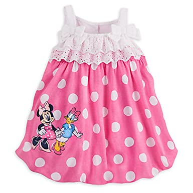 a5e6dabbb Disney Store Baby Minnie Mouse and Daisy Duck Knit Romper - Pink -:  Amazon.co.uk: Clothing