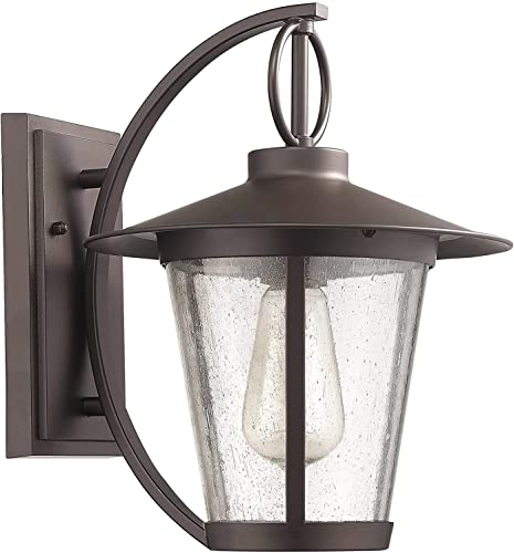 Chloe Lighting CH822046RB12-OD1 Transitional 1 Light Rubbed Bronze Outdoor Wall Sconce 12 Height