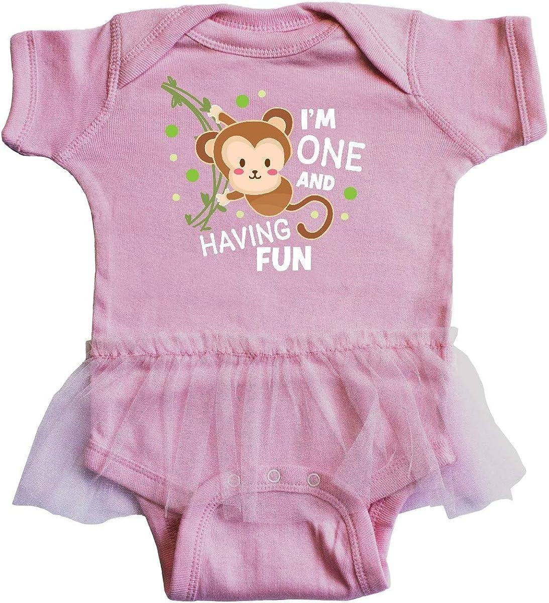 inktastic Im 1 and Having Fun with Monkey Infant Tutu Bodysuit