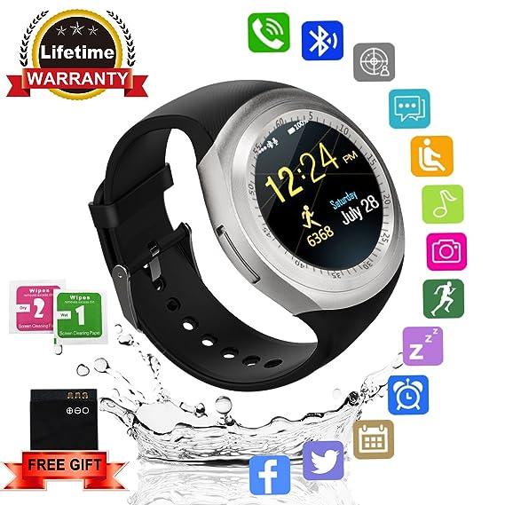 Reloj Inteligente, Smartwatch Bluetooth con SIM / TF Ranura Tarjeta Cámara Podómetros Deportivo Pantalla Táctil Smart Watch Fitness Tracker Pulsera ...