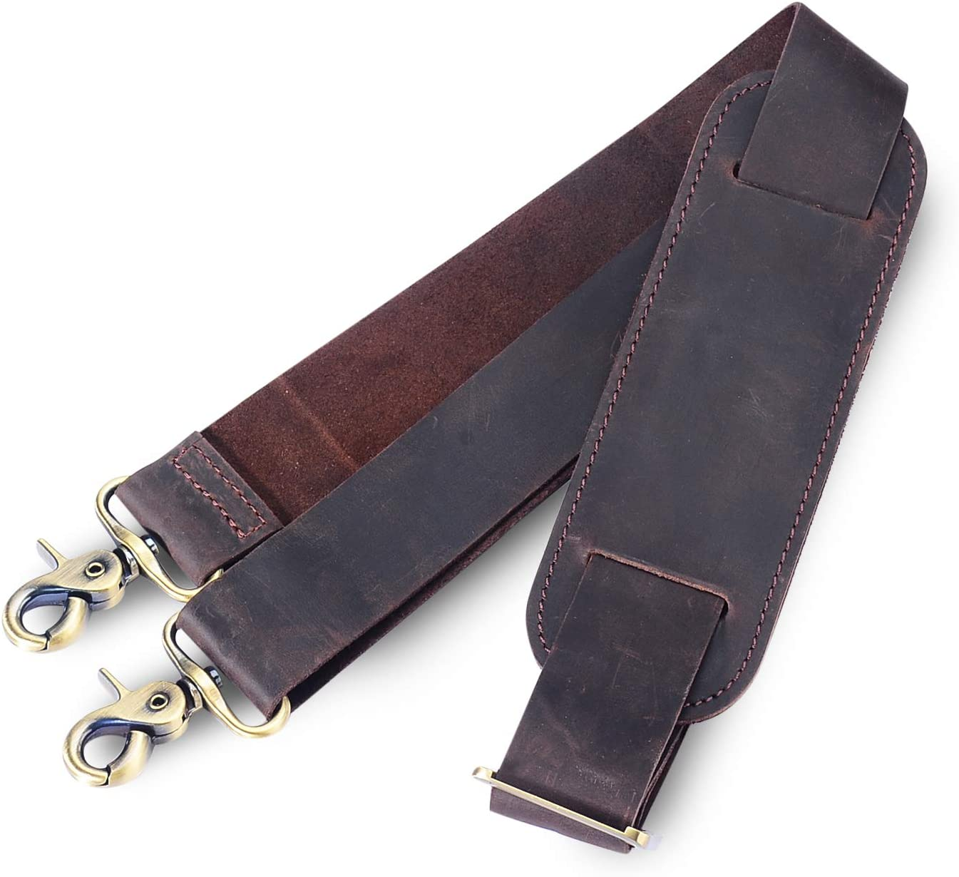 iiiVON Genuine Leather Durable Strap Replacement Leather Adjustable Shoulder Strap