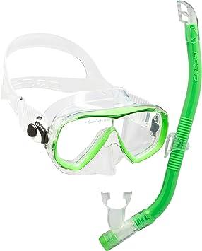 Cressi Set Estrella VIP Jr Kit de Snorkeling, Unisex niños, Lime ...