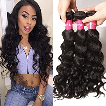 Amazon klaiyi brazilian remy virgin hair natural wave weave klaiyi brazilian remy virgin hair natural wave weave hair 3 bundles 18 20 22inches real human pmusecretfo Choice Image