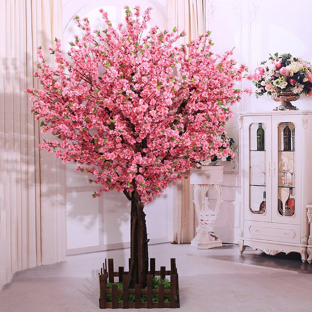 j-beauty人工Peach Blossom Trees人工桜ツリー、シルクフラワーのナチュラルツリートランク 4 feet Tall B07B8PZDVN  4 feet Tall