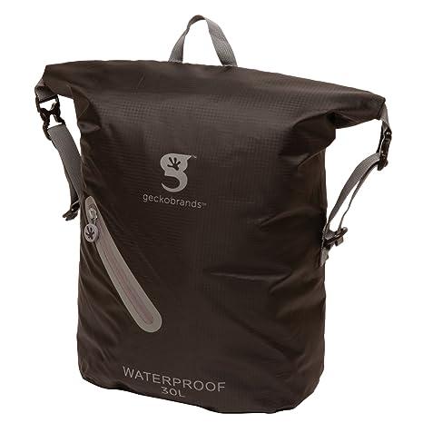 Amazon.com   geckobrands Waterproof 30L Lightweight Backpack- Black ... a577845d02d8c