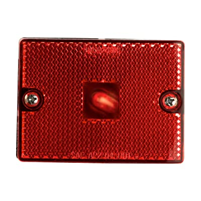 Blazer B423R Rectangular Clearance / Side Marker Light with Reflex, Red: Automotive