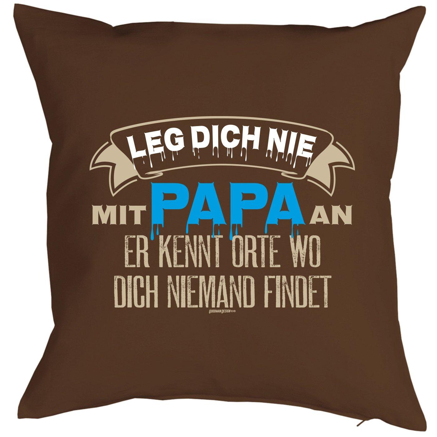 Vatertagsgeschenk für Papa Kissen mit Füllung und Urkunde Leg Dich ...
