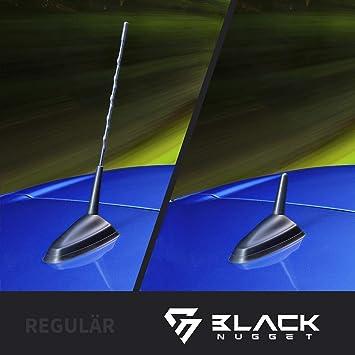 BlackNugget - Antena universal para coche, antena de techo con recepción de primera calidad, antena corta para recepción AM y FM, antena de varilla ...