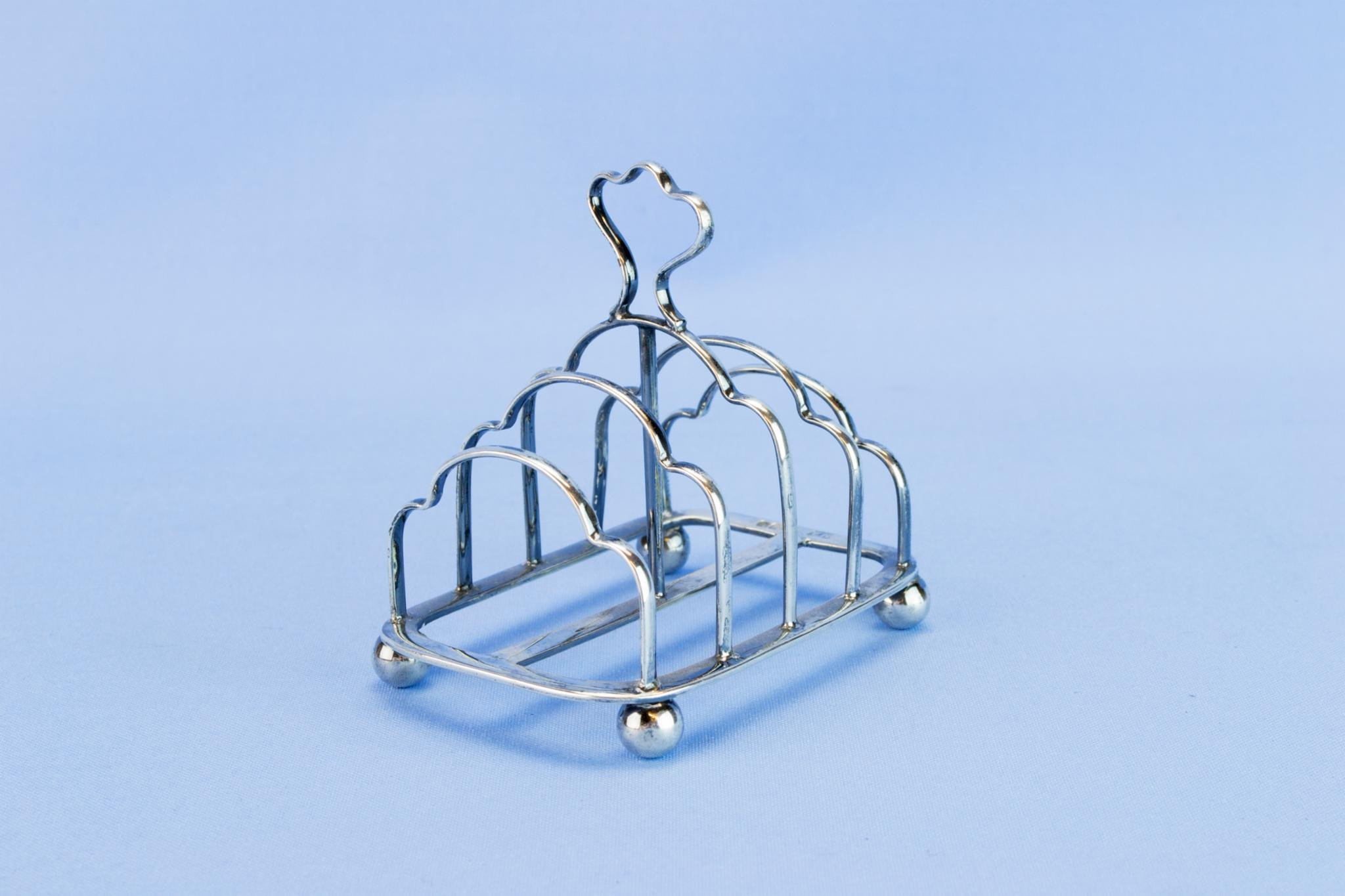 Sterling Silver 1900 Toast Rack Victorian Antique English Atkin Brothers