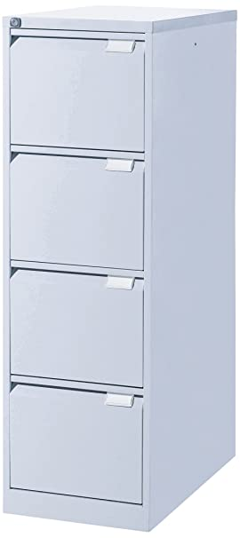 Eol Suspensión archivadores 4 cajones, Metal, Aluminio Gris, 62,2 x 41