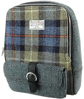 Ladies Harris Tweed Backpack Naver Tartan Fashionable New LB1013