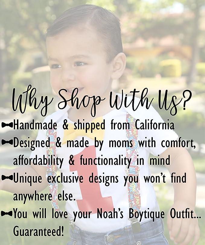 682b9c50248c Amazon.com: Noah's Boytique Baby Boy First Birthday Outfit Baseball Theme  Party Shirt: Clothing