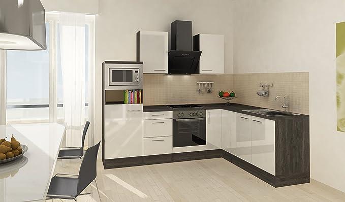 respekta Premium L Cocina empotrable 260 x 200 cm Gris de ...