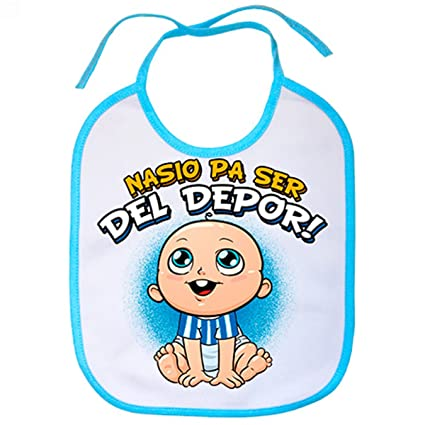 Babero nacido para ser del Depor Coruña fútbol - Celeste ...