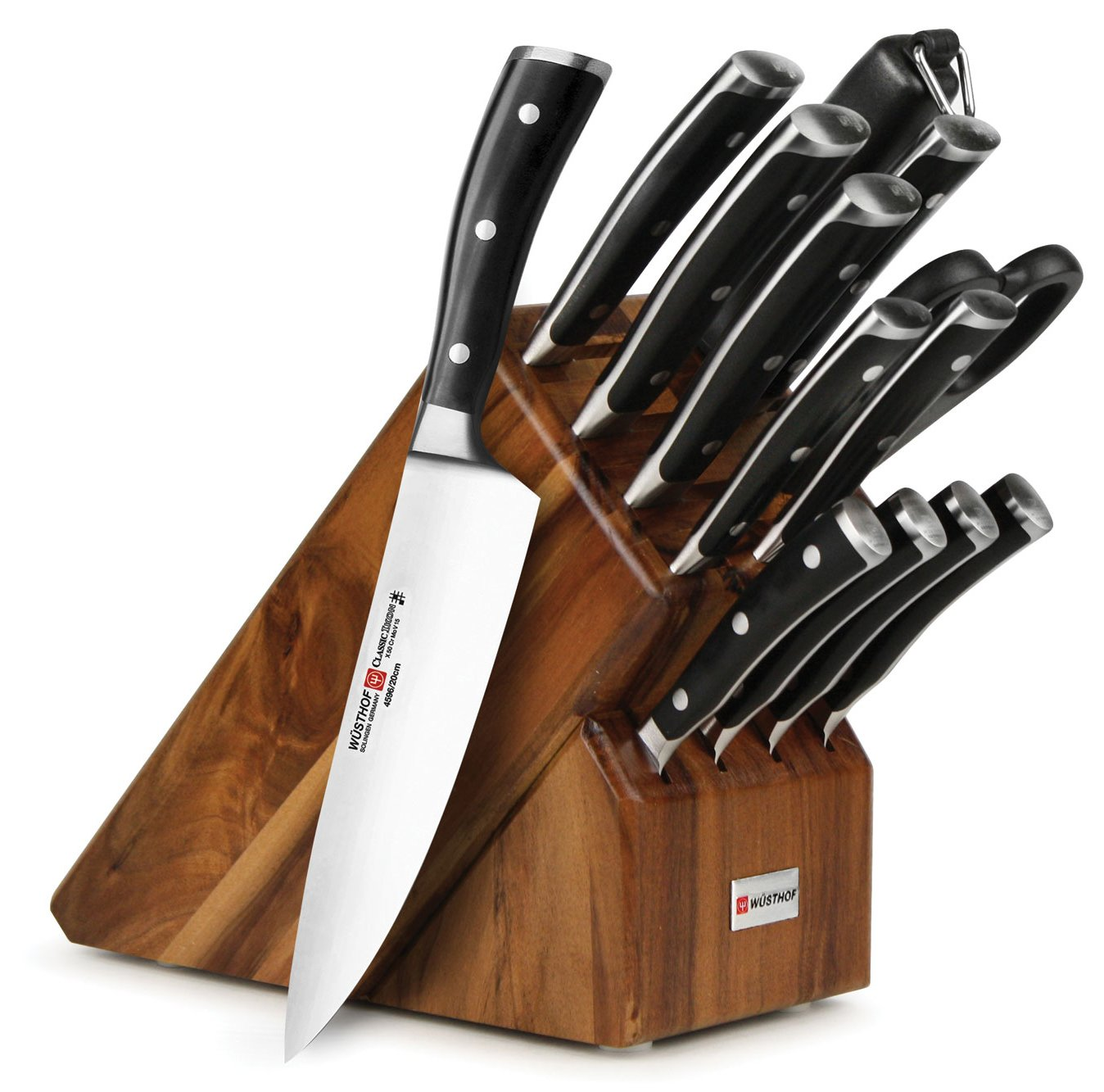 Wusthof Classic Ikon 14-piece Knife Block Set (Acacia Block)