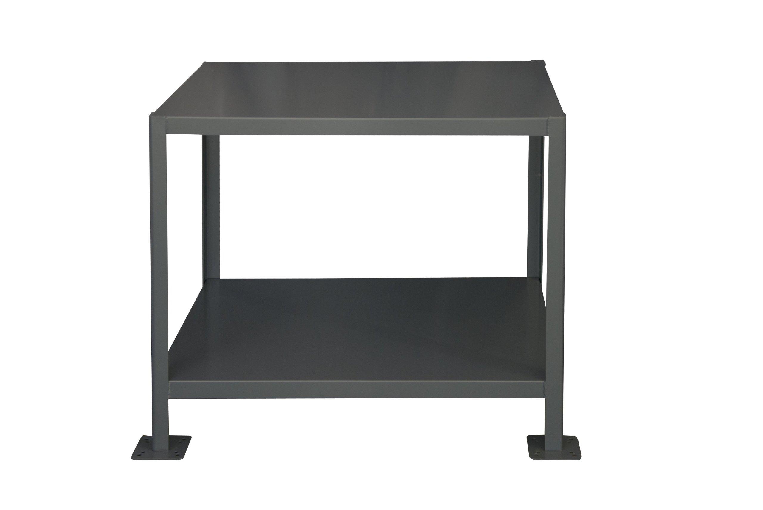 Durham Steel Medium Duty Machine Table, MT243630-2K295, 2 Shelves, 2000 lbs Capacity, 36'' Length x 24'' Width x 30'' Height