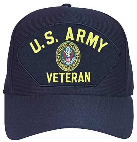 0522bf42f8d MilitaryBest U.S. Army Veteran Cap with Crest with Custom Back Text