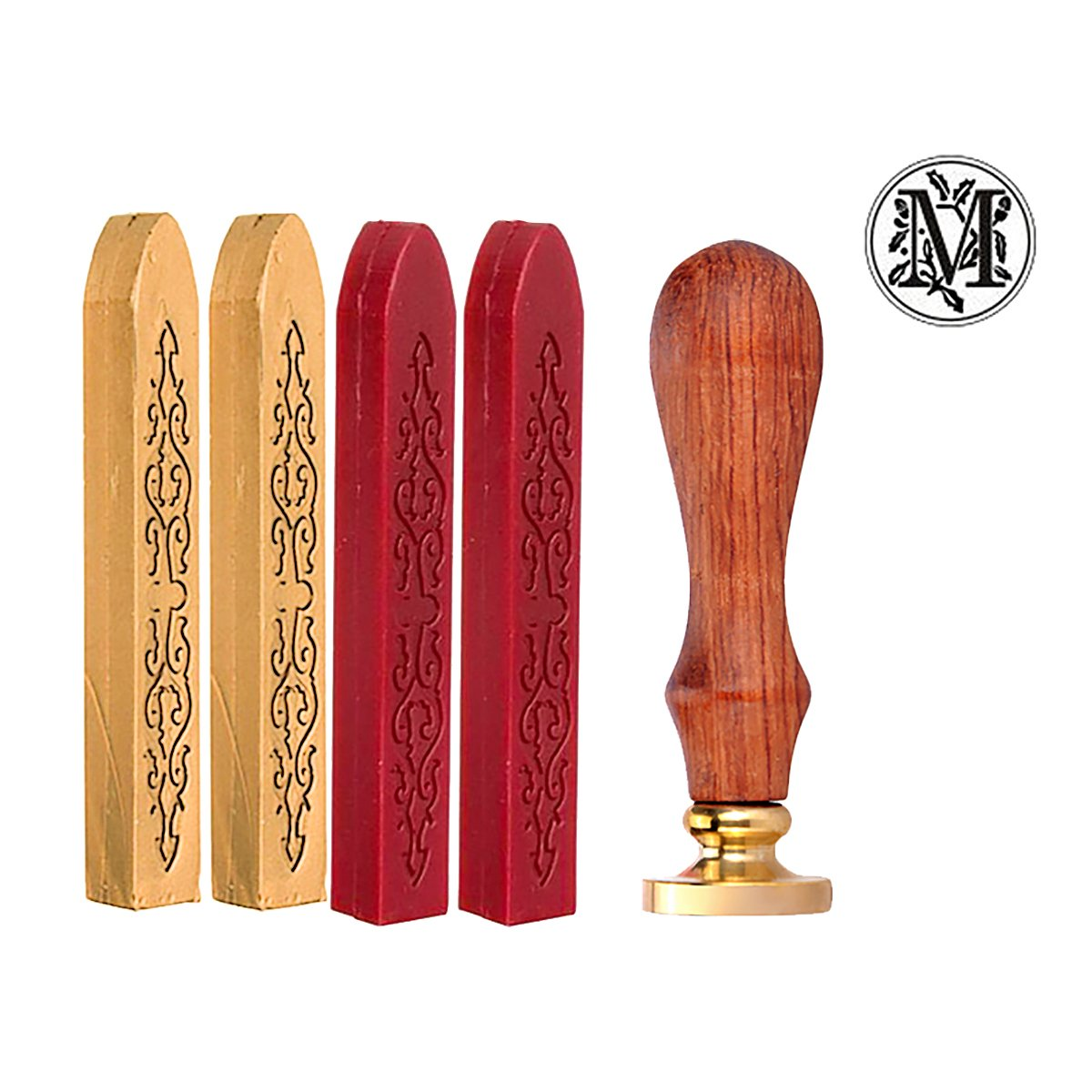 4pcs Retro Totem Fire Manuscript Sealing Wax Sticks 1pc Romantic Letter Seal Stamp For Postage Wax Stamp Supreme glory SGto-G221675