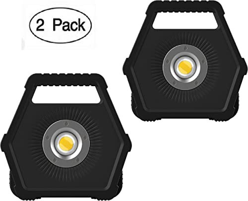 NextLED 1200 Lumens LED Work Light, Floodlight, Solid Cast Aluminum Housing, Battery Powered, 8 Hours Max Run Time, IP-54 Water Proof, Auto Repairing, Outdoor, Camping, Rotating Stand – 2 Pack